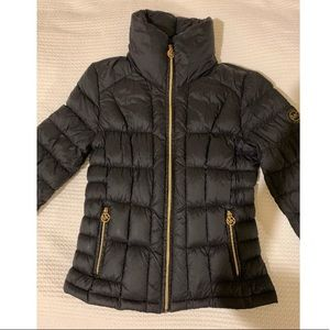 MICHAEL BY MICHAEL KORS BLACK PUFFER JACKET